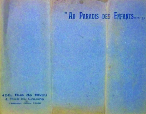 Catalogue « Au Paradis des Enfants » à Paris (circa 1910)