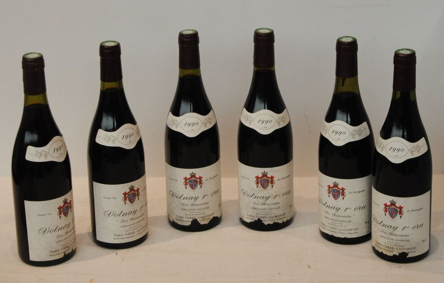 6 bout VOLNAY LES ROBARDELLES CARRE GAGNEPAIN 1990