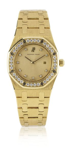 AUDEMARS PIGUET Royal Oak Lady n° 095 Montre bracelet en or, boîtier tonneau, lu…