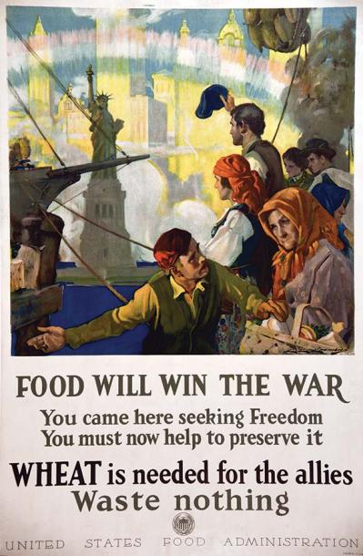 CHAMBERS CHARLES E. Food will win the war Statue de la Liberté Rare Cette affiche…