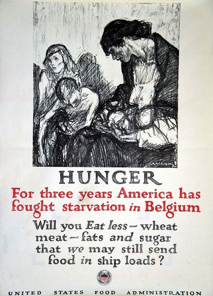 RALEIGH Hunger For three years America has fought starvation in Belgium 1917 1 Affiche…