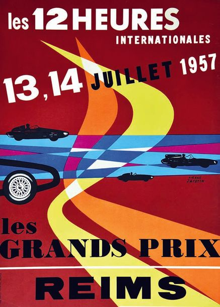 JACOT PIERRE Les 12 Heures Internationales Reims Les Grands Prix 1957 Reims (Marne)…