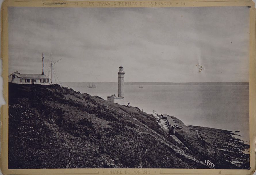 DUCLOS JULES Phare de Portzic Brest Photo Argentique de Jules Duclos vers 1900 Photo…