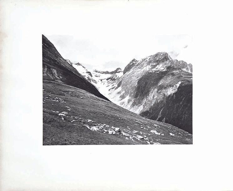 ASHCROFT F. N. Val Coun above the Chalets Milez Photo Originale Argentique annotée…