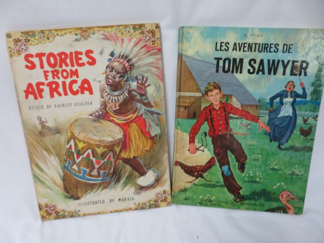 "Lot de deux bandes dessinées : ""Les Aventures de Tom Sawyer"" ""Stories from Afric…"