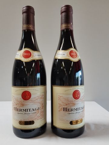 2 bouteilles Hermitage Rouge, E. Guigal, 2013