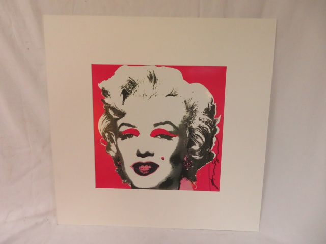 Andy Warhol (1928-1987), Marylin, 1981 (Invitation) Sérigraphie en couleurs, Castelli…