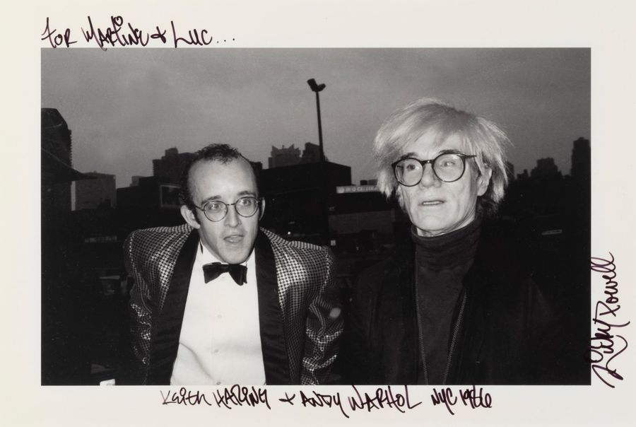 RICKY POWELL (né en 1961) Keith Haring et Andy Warhol, NYC, 1986. Tirage photographique…