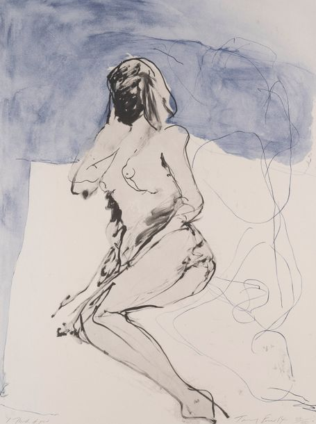 TRACEY EMIN (née en 1963) I think of you, 2014. Lithographie en couleurs sur papier…