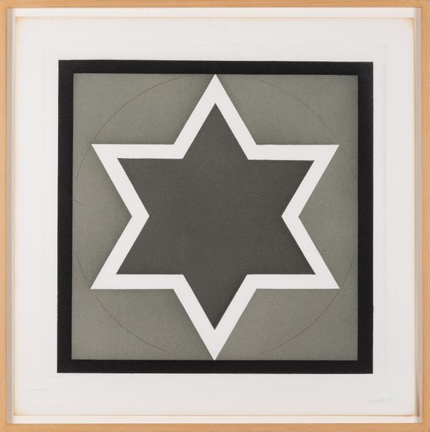 SOL LEWITT (1928-2007) Stars - Light Center, 1983. Ensemble de sept eaux fortes et…