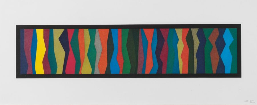 SOL LEWITT (1928-2007) Irregular Zigzag Bands, 1996. Eau-forte et aquatinte en couleurs…