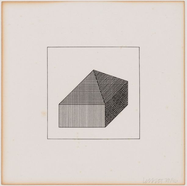 SOL LEWITT (1928-2007) Twelve forms derived from a cube, 1984, planches 9, 10 & 41.…