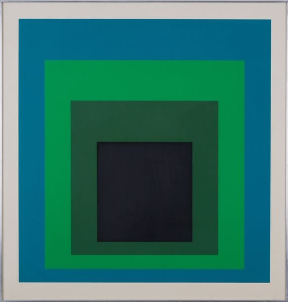 JOSEF ALBERS (1888-1976) Hommage to the Square, DR-b, 1968. Sérigraphie en couleurs…