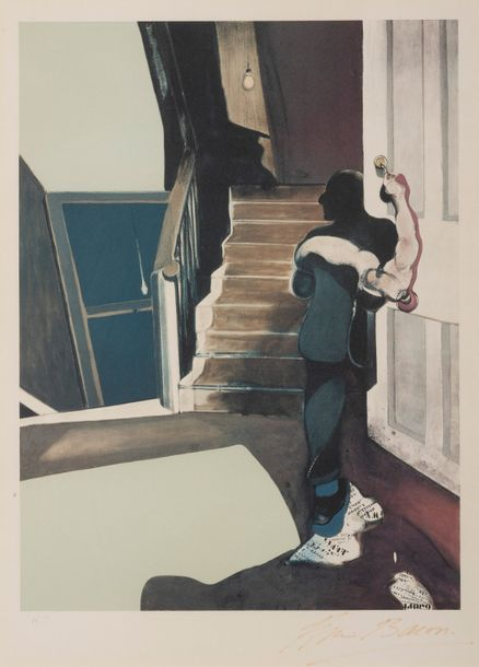 FRANCIS BACON (1919-1992) In memory of George Dyer, 1976. Lithographie en couleurs.…