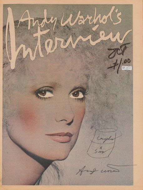 ANDY WARHOL (1928-1987) Interview Magazine, 1976. Catherine Deneuve photographiée…