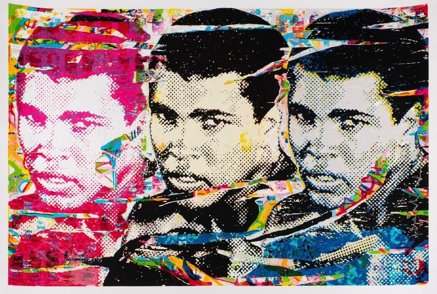MR BRAINWASH (né en 1966) The Champ (Muhammad Ali), 2011. Sérigraphie en couleurs.…