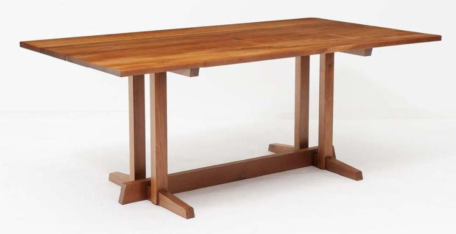 GEORGE NAKASHIMA (1905 - 1990) Table de salle à manger modèle Frenchman's Cove Noyer…