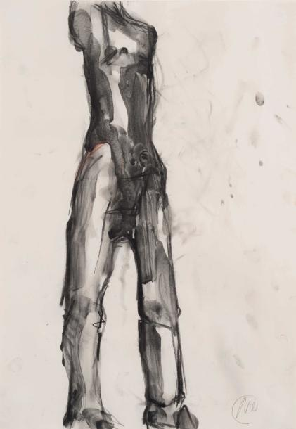 Markus Lüpertz (né en 1941) Untitled (Drawing for «Heiliger Sebastian»), 1987 Fusain,…
