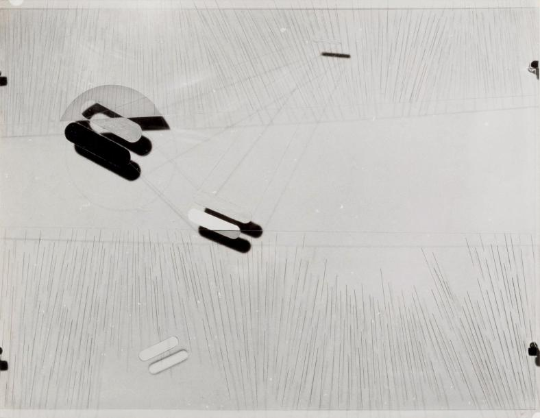 László Moholy-Nagy (1885-1946) Abstraction. Transparent Rodoïd. Circa 1936 Tirage…