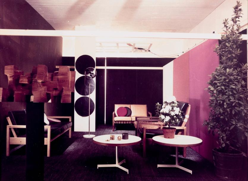 Willy Kessels (1898-1974) Design déco exposition. Circa 1960 Tirage argentique couleur…