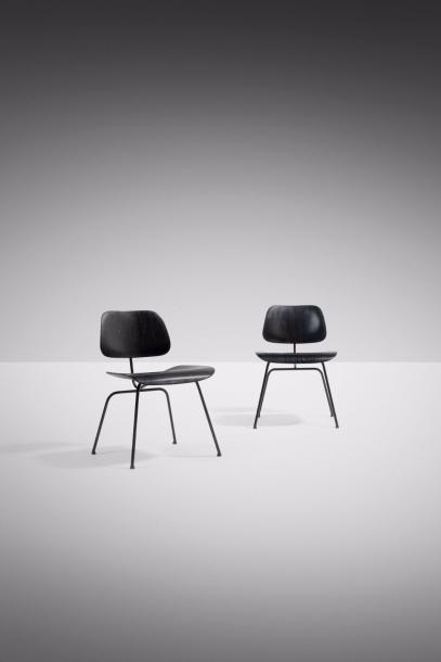 CHARLES (1907-1978) & RAY EAMES (1912-1988) DCM Dining Chair Metal Paire de chaises…