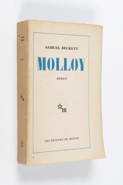 SAMUEL BECKETT (1906-1989) Molloy  Les Editions de minuit, 1951. Fort in-12 broché.…