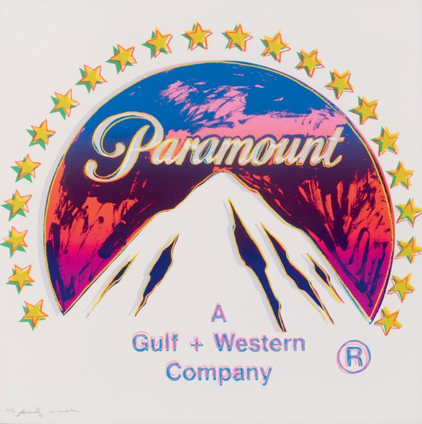 "ANDY WARHOL (1928 - 1987) Paramount, 1985. Sérigraphie en couleurs issue du ""Ads…"