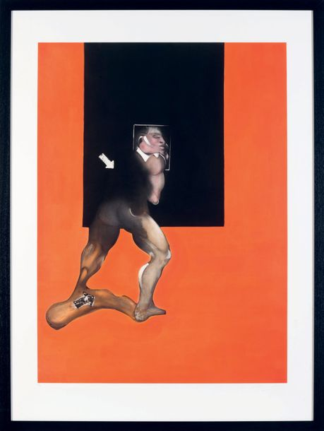 FRANCIS BACON (1919-1992) Study from human body, 1992. Aquatinte en couleurs. Cachet…