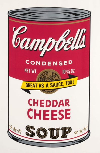 ANDY WARHOL (1928-1987) Cheddar Cheese, from Campbell's Soup II, 1969. Sérigraphie…