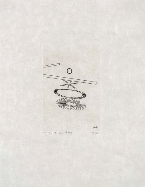 MARCEL DUCHAMP (1887-1968) The Oculist Witnesses, 1965. Eau-forte et aquatinte en…