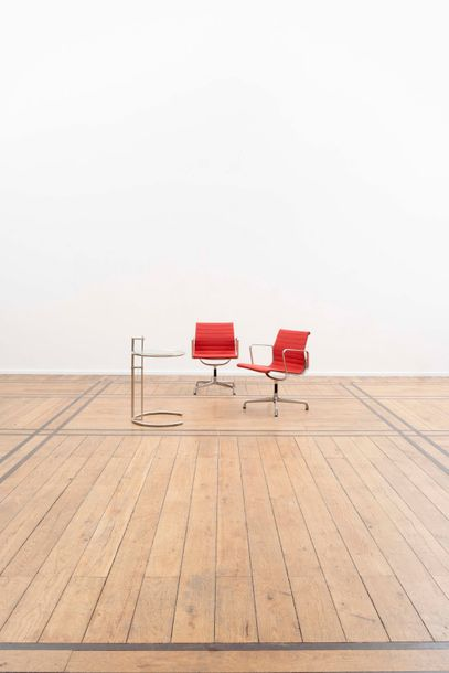 CHARLES EAMES (1907-1978) & RAY EAMES (1912-1988) Aluminium Group Paire de chaises…
