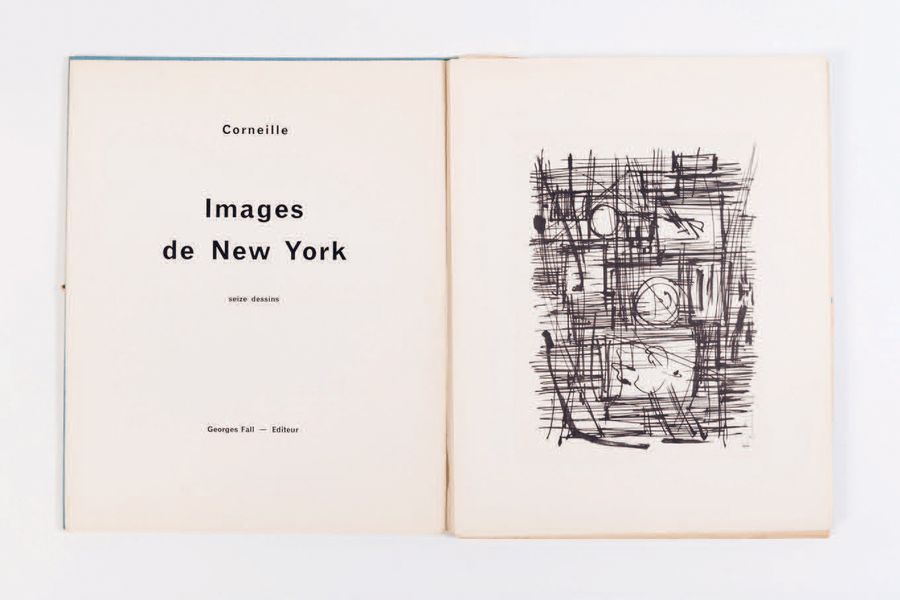 CORNEILLE (1922-2010) Images de New York, 1959. Portfolio de 16 estampes sur papier…
