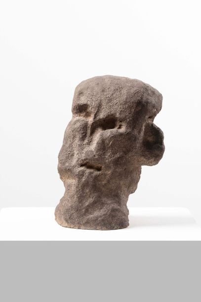 JAMES BROWN (né en 1951) Head, 1993 Terre chamottée. Pièce unique Chamotte klei.…