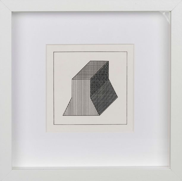 SOL LEWITT (1928-2007) Twelve Forms derived from a cube, 1984. Lot de 4 sérigraphies…
