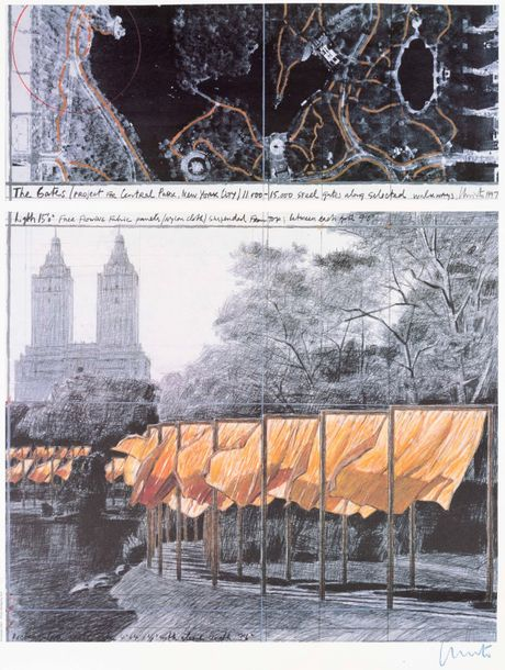CHRISTO (né en 1935) The Gates: project for Central Park, NYC, 2003. Lithographie…