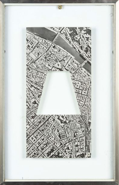 SOL LEWITT (1928-2007) R 835 A Rectangle of Florence Without a Trapezoid. Découpage.…