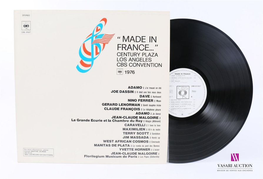 MADE IN FRANCE Century plaza Los Angeles CBS Convention 1 Disque 33T sous pochet…