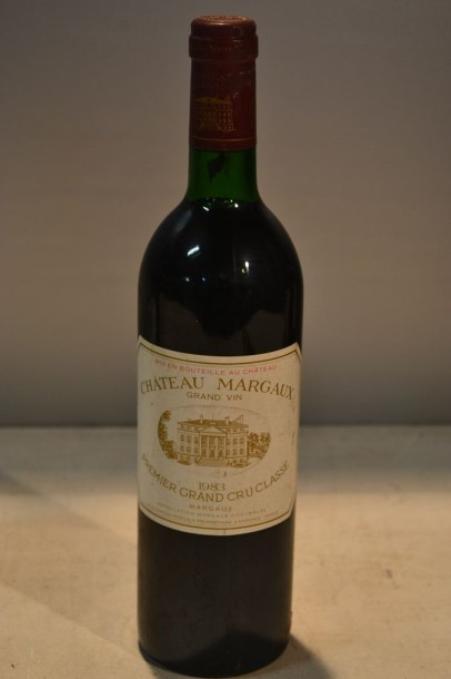 1 Blle	CH. MARGAUX	Margaux 1er GCC	1983  	Même description.