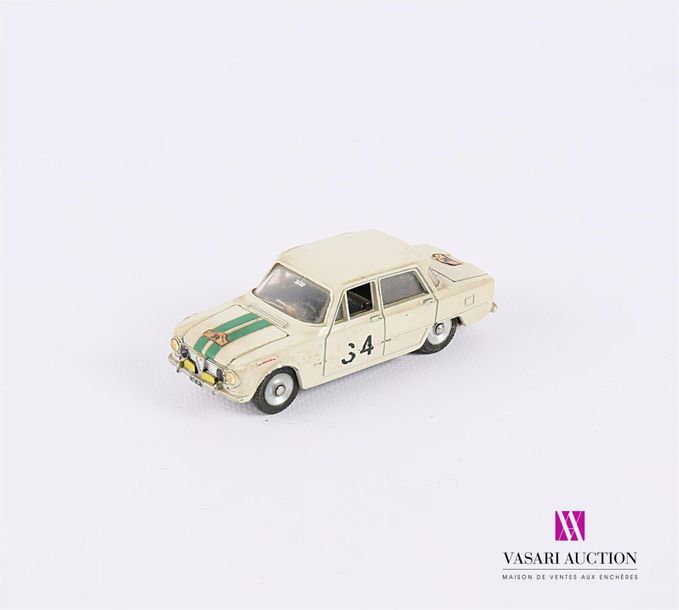 DINKY TOYS (FR) ALFA ROMEO GIULIA T1 - 514 - couleur blanche (usures, étiquettes…