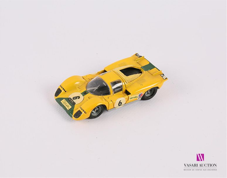 SOLIDO (FRANCE) FERRARI 512 S - couleur jaune (usures, rajouts, repeints, sans …