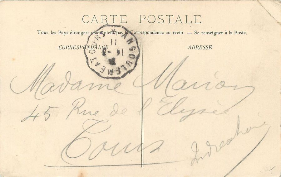 """5 CARTES POSTALES METIERS : Masculin - Sélection. """"46 - Angoulême - Marchand Ambulant…"""