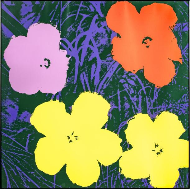 SUNDAY B. MORNING SUNDAY B. MORNING 4 fleurs par Andy WARHOL Estamples-multiples…