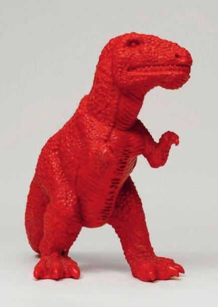 SUI JIANGUO (NÉ EN 1956) Dinosaure rouge - Made in China, 2002 Résine polyester peinte…