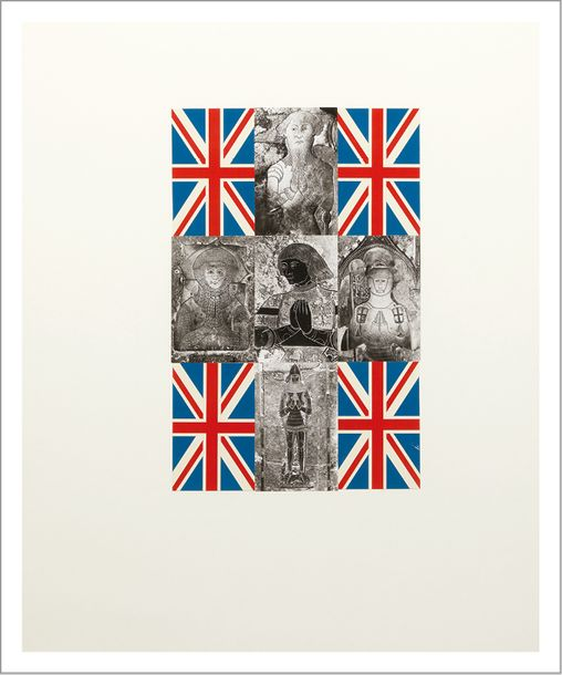 GILBERT AND GEORGE Union Jack Knights, 1981 Collage. Signé et titré sur une étiquette…