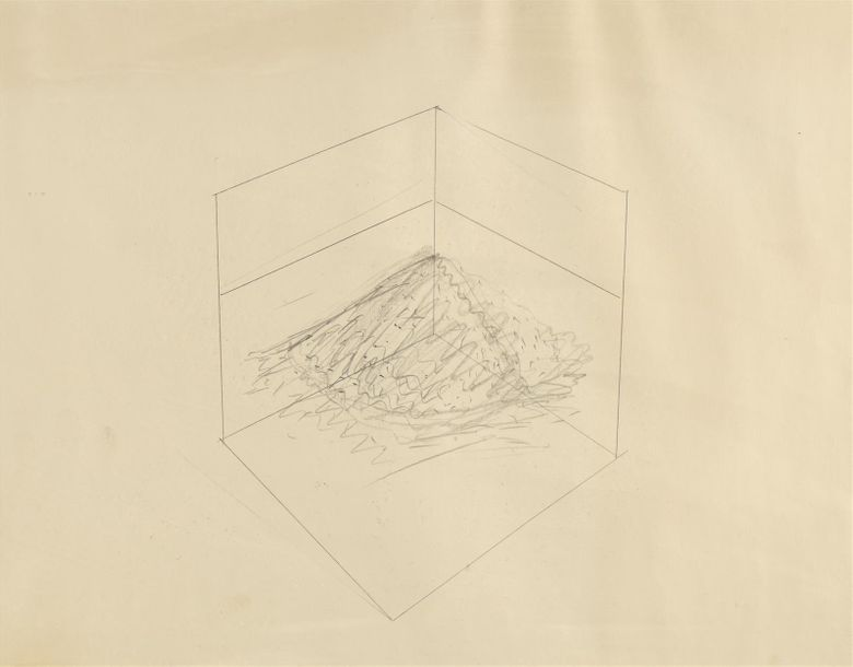"Robert Smithson (1938-1973) ""Untitled"" (corner piece), 1969 Mine de plomb sur papier…"