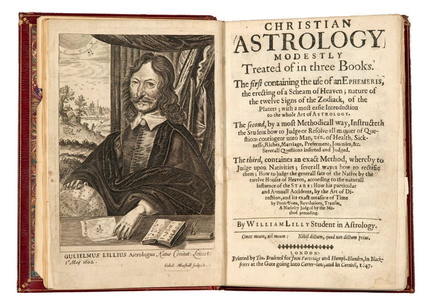 LILLY (William) Christian Astrology, modestly treated of in three Books. Londres…