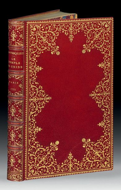 MONTESQUIEU. Le Temple de Gnide. Paris, Le Mire, 1772. In 8, maroquin rouge, den…