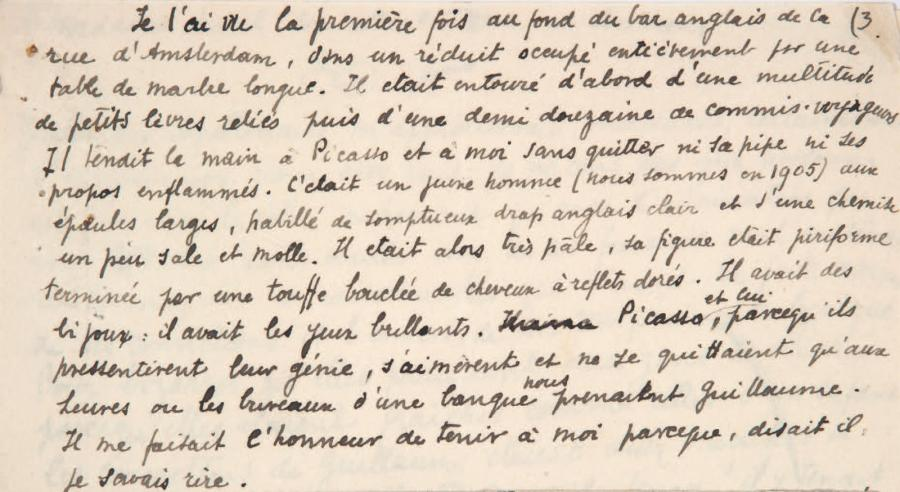 APOLLINAIRE Guillaume]. - JACOB (Max)
