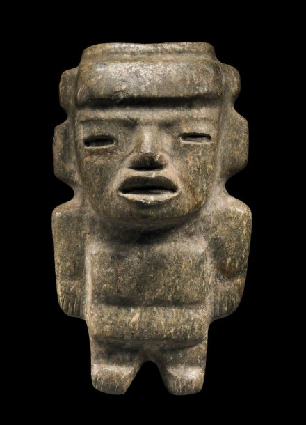 IMPORTANTE STATUE ANTHROPOMORPHE Culture Teotihuacan, Région de Puebla, Mexique…