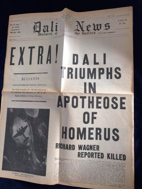 [DALI Salvador]. DALI NEWS. New York, 20 novembre 1945. Numéro 1 de 1945, in-folio…